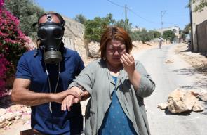 مواجهات بين الشبان وجنود الاحتلال الاسرائيلي خلال مسيرة كفرقدوم الاسبوعية المناهضة للاستيطان