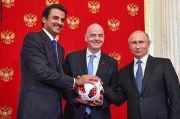 أمير قطر: مونديال 2022 لكل العرب ولا أعدكم بتقديم مستوى مثل روسيا