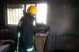 عبث الأطفال يتسبب بحريق منزل في قلقيلية