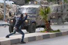 29 اصابة في مواجهات مع الاحتلال بحلحول شمال الخليل