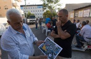 عائلة شماسنة تعتصم أمام منزلها المخطر بالإخلاء لصالح المستوطنين بالقدس
