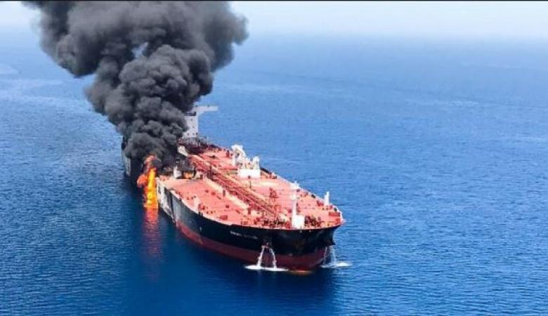 أمريكا تنشر تسجيلا مصورا يثبت تورط إيران بحريق الناقلتين بخليج عمان