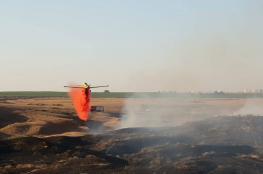 نيران غزة تحرق مئات الدونمات في مستوطنات الغلاف