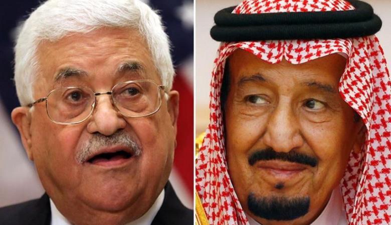 الملك سلمان يؤكد للرئيس وقوفه الى جانب الشعب الفلسطيني