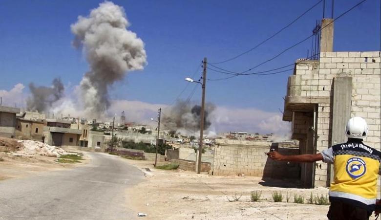 مقتل مدنيين سوريين في قصف استهدف ادلب السورية