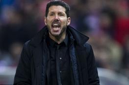 سيميوني يتوعد ريال مدريد بتعويض الخسارة