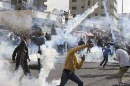 إصابات بالرصاص الحي في مواجهات رام الله اليوم الجمعة