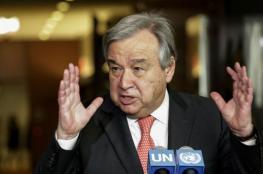 الامين العام للأمم المتحدة : ملتزم لتحقيق خيار الدولتين