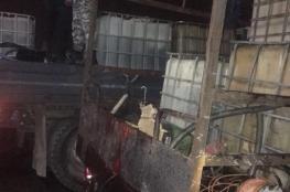 الضابطة الجمركية تضبط 6000 لتر سولار مهرب في جبع شمال القدس