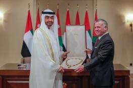 ولي عهد ابو ظبي والعاهل الاردني يبحثان القضية الفلسطينية