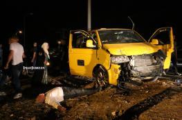 اصابة 11 مواطناً في حادث سير مروع شرق بيت لحم