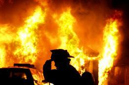 انقاذ شاب بعد محاصرة النيران لمنزله  في بيت لحم