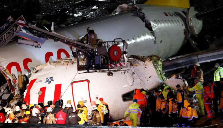 فاجعة اسطنبول ..تركيا تكشف اعداد المصابين جراء تحطم الطائرة