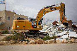 جرافات الاحتلال تهدم منزلاً شمال القدس المحتلة