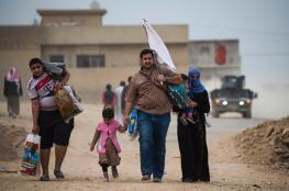 100 الف نازح من الموصل العراقية