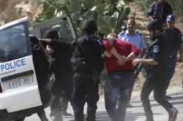 رام الله : القبض على مطلوب حاول دهس رجال شرطة