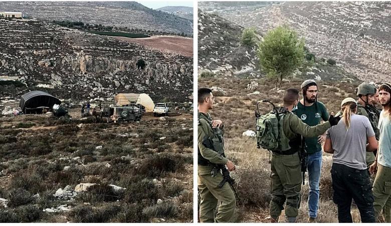 أهالي سنجل يرغمون جيش الاحتلال على إزالة خيام للمستوطنين