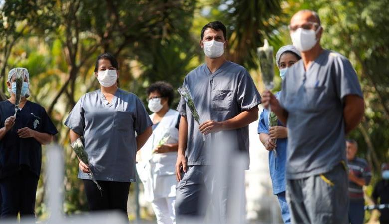 أميركا والبرازيل تسجلان آلاف الاصابات والوفيات بكورونا