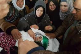"""اهالي الخليل يشيعون جثمان الشهيد """" مجد الخضور """" بعد 7 أشهر على احتجاز جثمانها"""