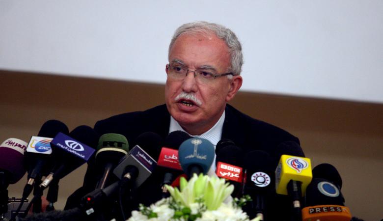 """وزير الخارجية : """"اسرائيل تبتز القيادة وتحاول تركيع الشعب الفلسطيني """""""