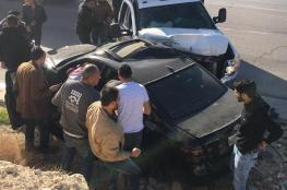 شاهد...7 اصابات بينها خطيرة في حادث سير مروع على طريق وادي النار