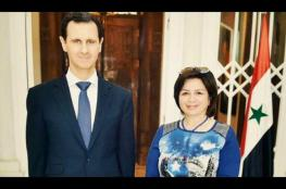 لقاء بين الهام شاهين والرئيس السوري بشار الأسد
