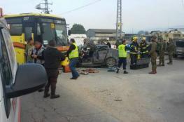 وفاة طالبة جامعية واصابة آخرين في حادث سير مروع شمال نابلس