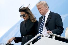 ترامب يهين زوجته ويفر هارباً والاخيرة ترد له الصاع مضاعفاً