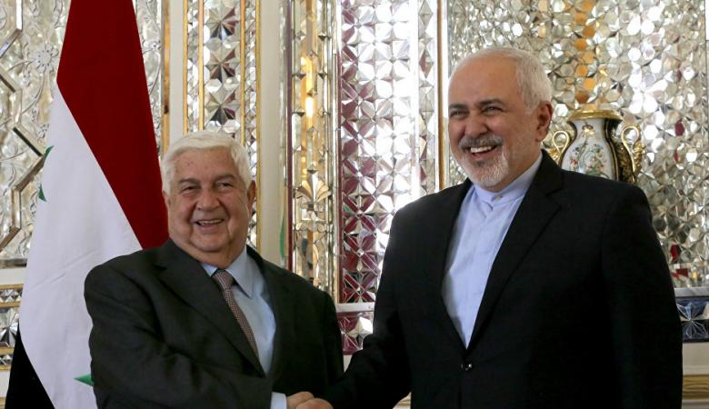 ظريف والمعلم يبحثان في طهران تطورات الملف السوري
