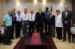 الحمد الله يستقبل الأمين العام للمنظمة الكشفية العربية