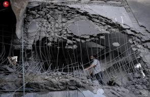 جانب من الدمار الهائل الذي خلفه العدوان الاسرائيلي على غزة