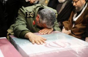 طهران : جانب من تشييع جثمان الجنرال