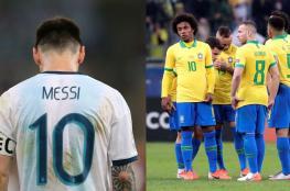 ميسي يهاجم التحكيم عقب الخسارة امام البرازيل  ويحسم مستقبله مع الارجنتين