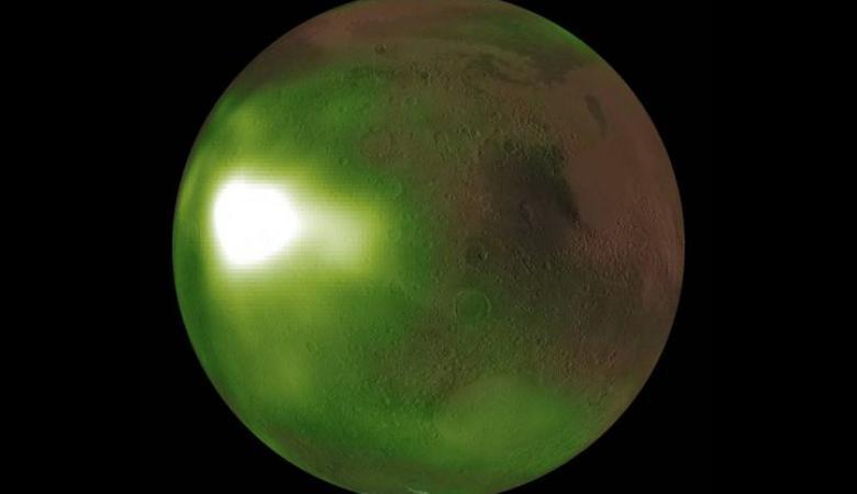 لماذا يتحول كوكب المريخ من الأحمر إلى الأخضر في المساء؟