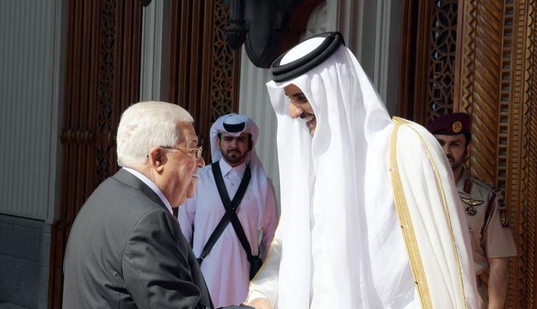 تفاصيل لقاء الرئيس عباس وامير قطر