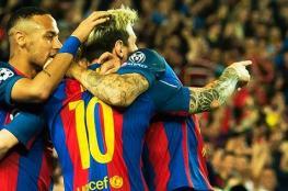 """ميسي ينقذ برشلونة من فخ فالنسيا بالوقت القاتل """"فيديو """""""