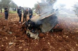 بالصور: ناشطون يتداولون صوراً لحطام طائرة الـF16 سقطت داخل قرية أردنية