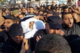 المئات يشيعون جثمان الفتى الأسطل جنوب قطاع غزة