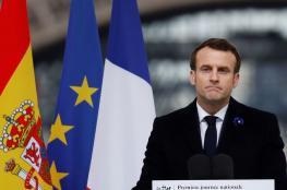 الرئيس الفرنسي : أعلنا الحرب على كورونا
