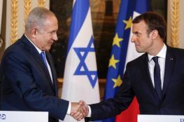 """ماكرون : انكار وجود """"اسرائيل """" كدولة معاداة للسامية"""