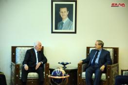 الاحمد خلال لقاء مع وزير الخارجية السوري : العلاقة راسخة بين الشعبين