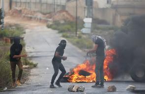 مواجهات بين قوات الاحتلال والشبان الفلسطينيين في الضفة الغربية