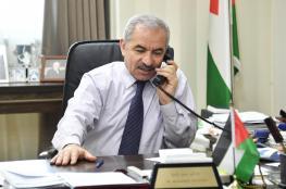 اشتيه يطالب اوروبا بالاعتراف بفلسطين لاحباط مخططات الضم