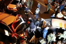 بالصور: مصرع مواطن بحادث سير بين مركبة فلسطينية وأخرى إسرائيلية شرق رام الله