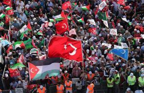 مظاهرة مليونية في اسطنبول نصرة للقدس والمسجد الأقصى