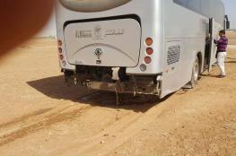 بالصور: إصابة 7 معتمرين بحادث سير قرب الشونة في الأردن