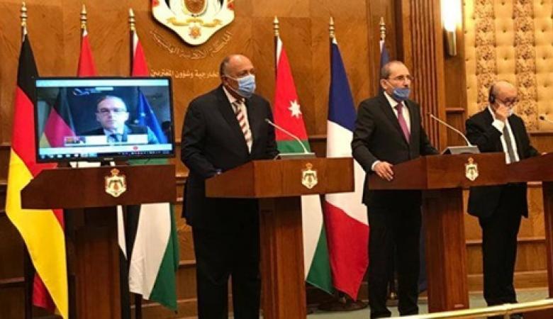 الأردن وفرنسا تؤكدان على وقف ضم الأراضي وحل الدولتين