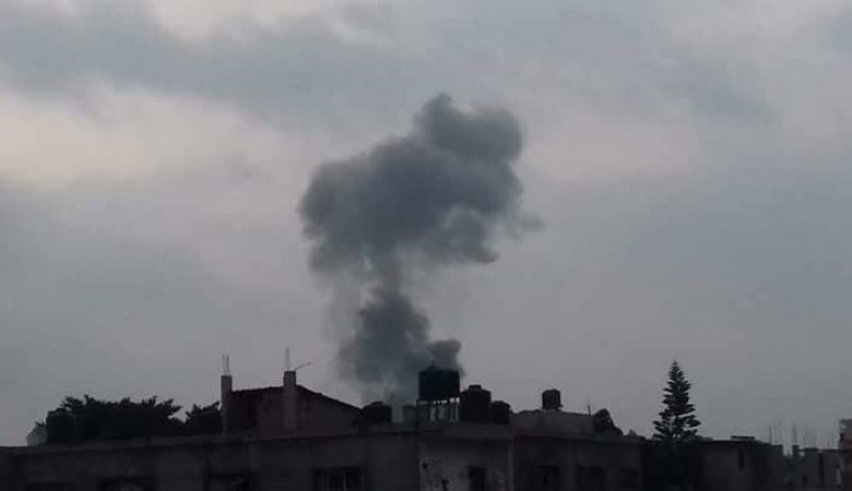 أضرار كبيرة جراء قصف طائرات الاحتلال لعدة مواقع بقطاع غزة