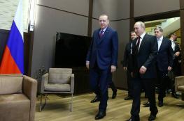 اردوغان وبوتين يتفقان على الحل السلمي للازمة السورية
