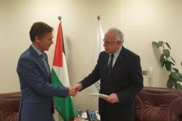 المالكي يشيد بالعلاقات المتميزة بين فلسطين والاتحاد الأوروبي